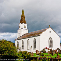 Buy canvas prints of The White Church by Chris Thaxter