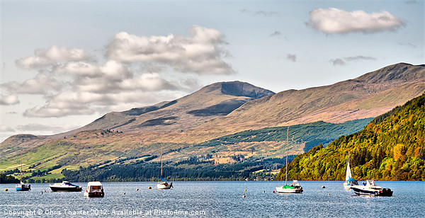 Loch Tay from Kenmore 2 Canvas print by Chris Thaxter