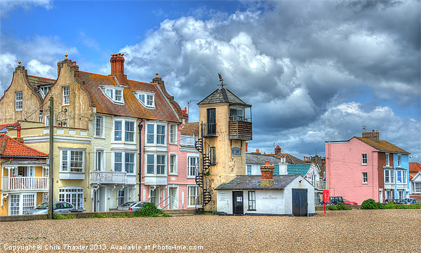 South Lookout Tower Aldeburgh Canvas print by Chris Thaxter