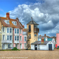 Buy canvas prints of South Lookout Tower Aldeburgh by Chris Thaxter