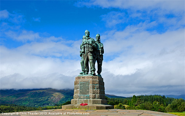 Commando Memorial 4 Canvas print by Chris Thaxter