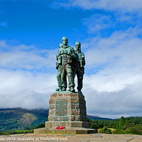 Buy canvas prints of Commando Memorial 4 by Chris Thaxter