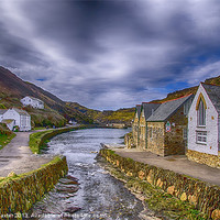 Buy canvas prints of Boscastle Harbour by Chris Thaxter