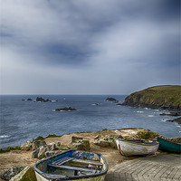 Buy canvas prints of Boats at The Lizard by Chris Thaxter