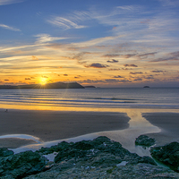 Buy canvas prints of Polzeath Sunset 3 by Chris Thaxter