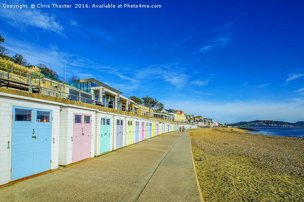 Beach Huts at Lyme Regis Canvas print by Chris Thaxter