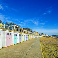 Buy canvas prints of Beach Huts at Lyme Regis by Chris Thaxter