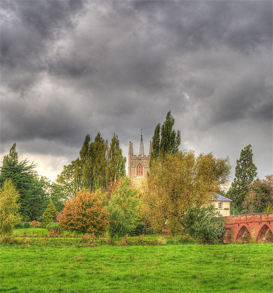 All Saints Church and the Anchor Pub Print by Chris Thaxter