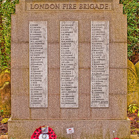 Buy canvas prints of London Fire Brigade Memorial by Chris Thaxter