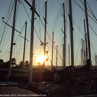 Buy canvas prints of Masts of Light by Mark Hobson