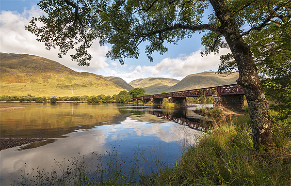 Railway Viaduct Over River Orchy Canvas print by Bel Menpes