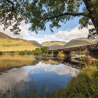 Buy canvas prints of Railway Viaduct Over River Orchy by Bel Menpes
