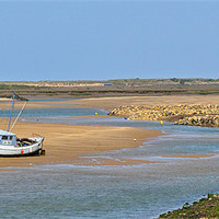 Buy canvas prints of Awaiting the Tide by Bel Menpes