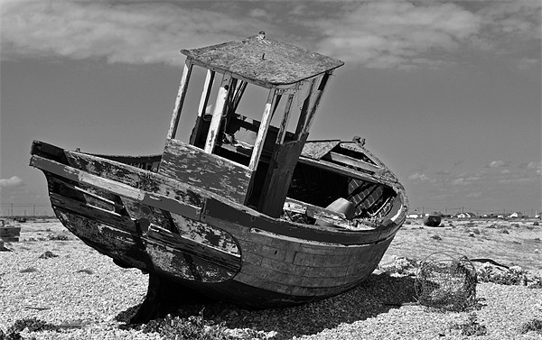 Shingle Sailor Boat Dungeness Canvas print by Bel Menpes