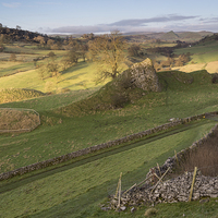 Buy canvas prints of Pilsbury Castle by James Grant