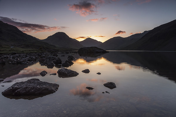 Wast Water Dawn Canvas print by James Grant