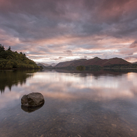 Buy canvas prints of  Derwent Water Sunset by James Grant