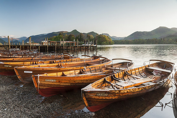 Derwent Water Sunset Canvas Print by James Grant