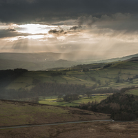 Buy canvas prints of  Hope Valley Light by James Grant