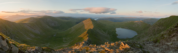 Helvellyn Sunset Canvas Print by James Grant