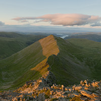 Buy canvas prints of Helvellyn Sunset by James Grant
