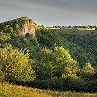 Buy canvas prints of Thors Cave Sunset Panoramic  by James Grant