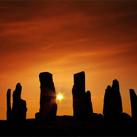 Buy canvas prints of Sunset over Callanish by Paul Davis