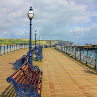 Buy canvas prints of Swanage Pier by kelly Draper