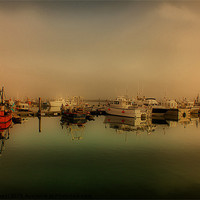 Buy canvas prints of Boats At Poole Harbour by kelly Draper