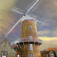 Buy canvas prints of Cley Windmill by kelly-jules draper