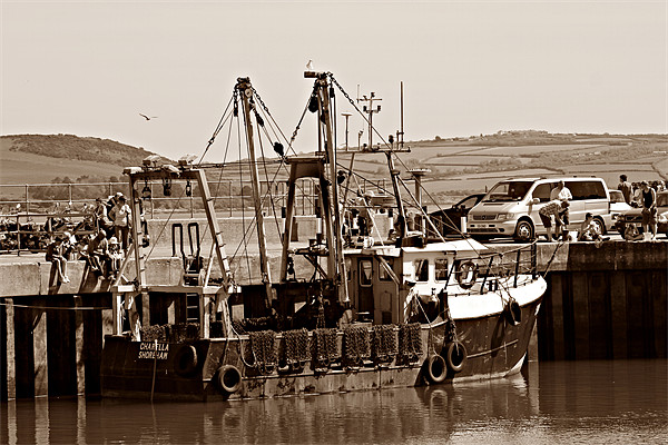 Fishing Boat Canvas print by kelly Draper