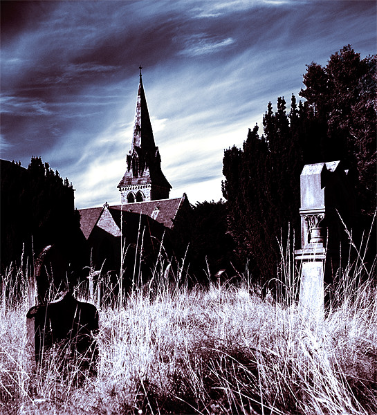 The Churchyard Canvas print by Stuart Jack