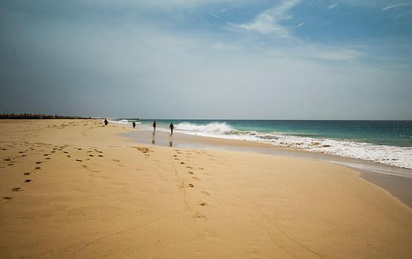 Beach walk Boa Vista Canvas print by Stuart Jack