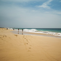 Buy canvas prints of  Beach walk Boa Vista by Stuart Jack