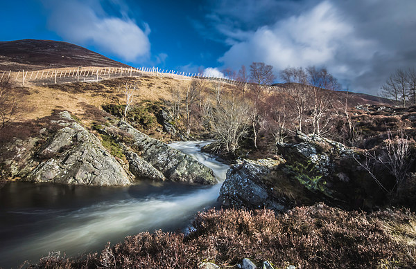 Clunie waters near Glenshee Canvas print by Stuart Jack