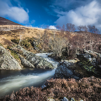 Buy canvas prints of  Clunie waters near Glenshee by Stuart Jack