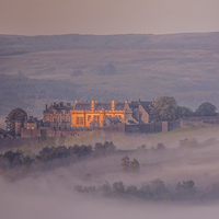 Buy canvas prints of  Stirling Castle in the mist by Stuart Jack
