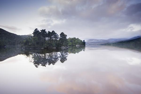 Pink Loch Canvas print by Stuart Jack