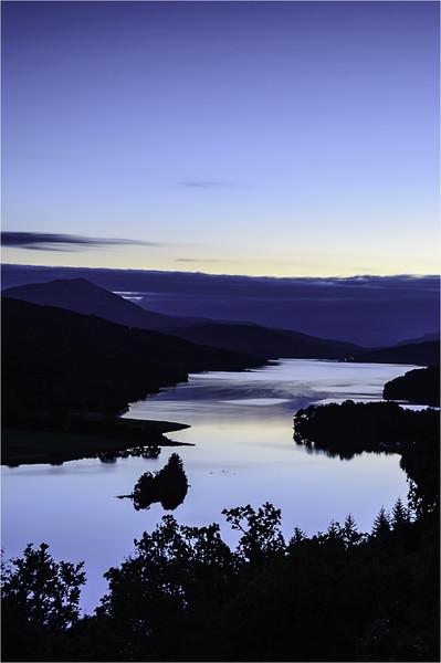Loch Tummel - Blue hour Canvas print by Stuart Jack
