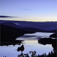 Buy canvas prints of Loch Tummel - Blue hour by Stuart Jack