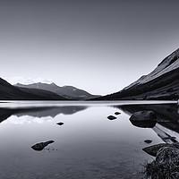 Buy canvas prints of Loch Etive in Mono by Stuart Jack