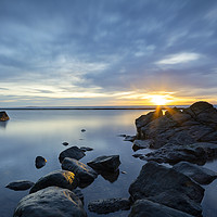 Buy canvas prints of Sunrise over the pool by Stuart Jack