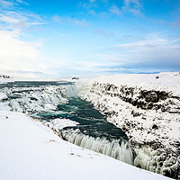 Buy canvas prints of Gulfoss Falls Iceland by Stuart Jack