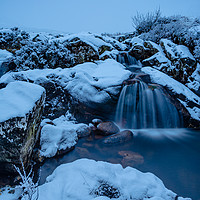Buy canvas prints of Winter Falls by Stuart Jack