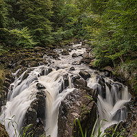 Buy canvas prints of Black Linn Falls by Stuart Jack