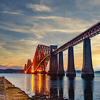 Buy canvas prints of Forth Rail Bridge at Sunset by Stuart Jack