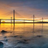 Buy canvas prints of Forth Bridges Sunrise by Stuart Jack