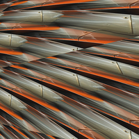Buy canvas prints of  speed of light (orange and chrome) by Heather Newton