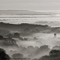 Buy canvas prints of Mist in the Culm Valley by Pete Hemington