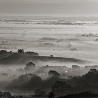 Buy canvas prints of Bradninch Church in the Mist by Pete Hemington